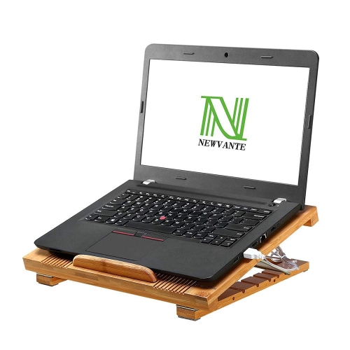 Laptop Stand Cooling Pad with USB Fan Laptop Cooler Bamboo 100% Stand for Laptop